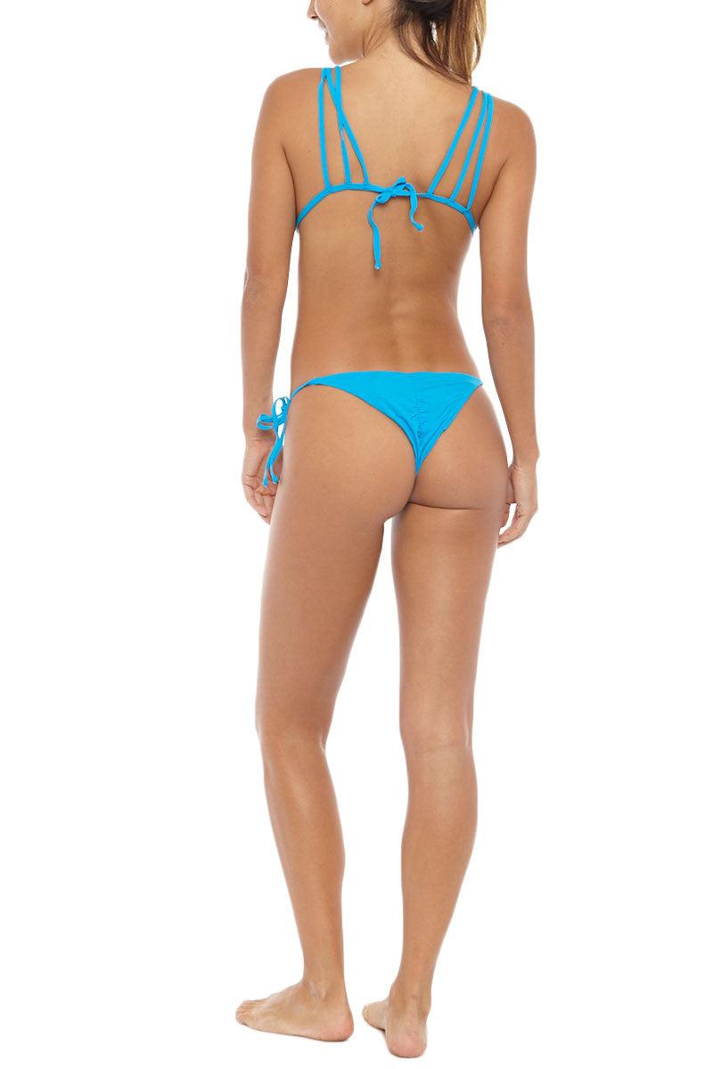 FRANKIES BIKINIS Mistos Cheeky Tie Side Bikini Bottom - Bright Blue Bikini Bottom | Bright Blue| Frankies Bikinis Mistos Bikini Bottom