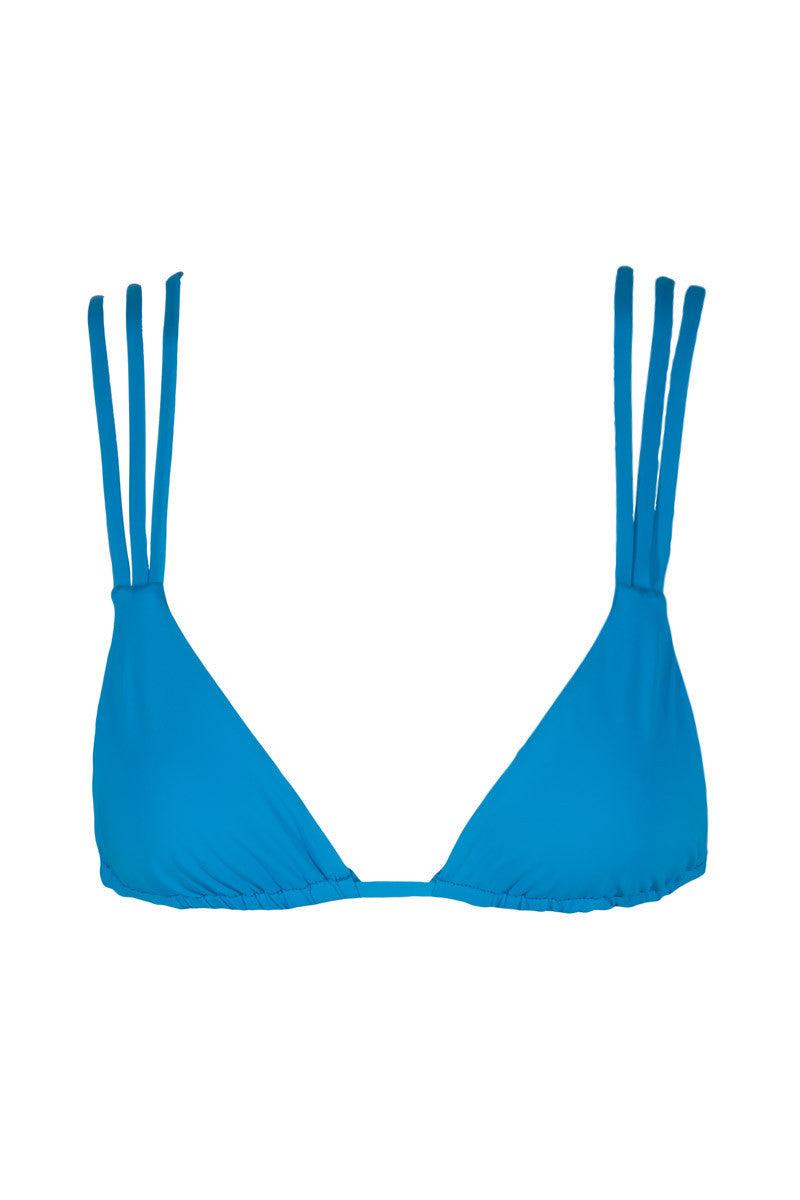 FRANKIES BIKINIS Mistos Stringy Triangle Bikini Top - Bright Blue Bikini Top   Bright Blue  Frankies Bikinis Mistos Bikini Top