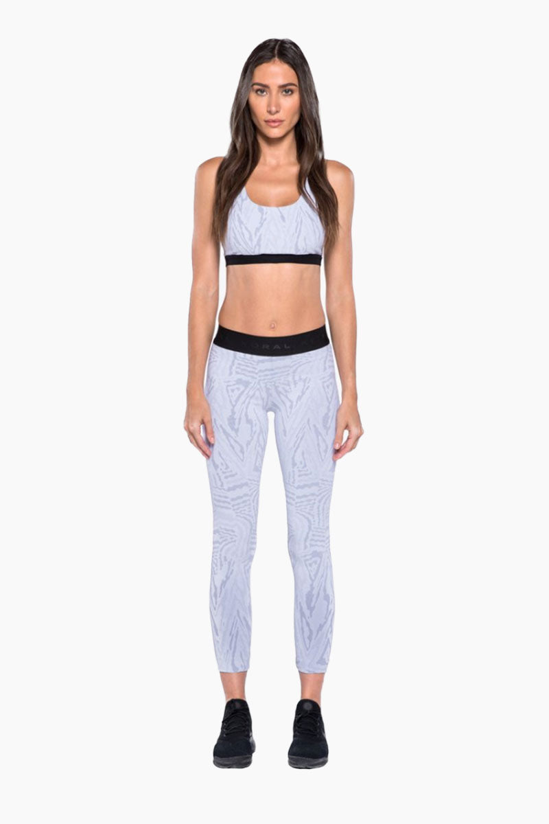 KORAL Tax Banded Sports Bra - White Galaxy Activewear | White Galaxy| KORAL Galaxy Tax Sports Bra Front View