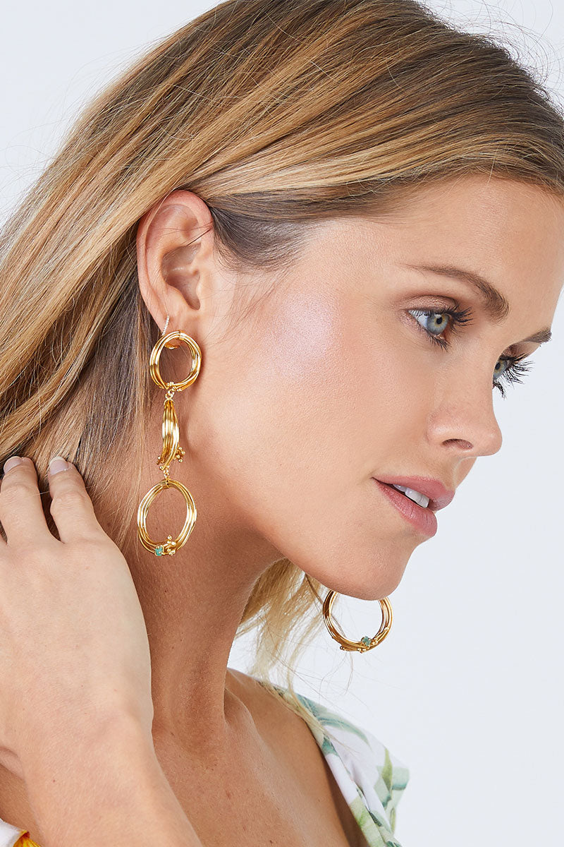 FENOMENA Geo 3 Earrings - Gold Jewelry | Gold|