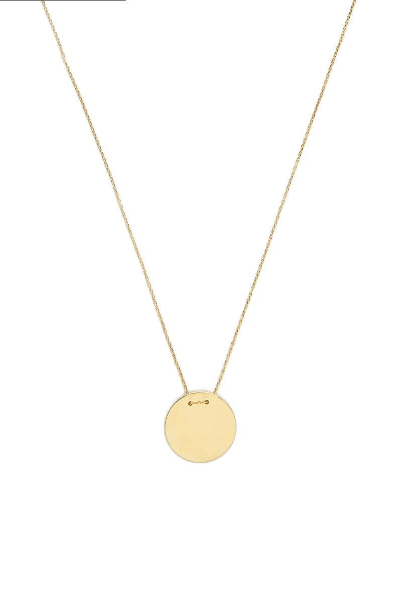 TALIA NAOMI Golden Eclipse Necklace Jewelry | Gold| Talia Naomi Golden Eclipse Necklace