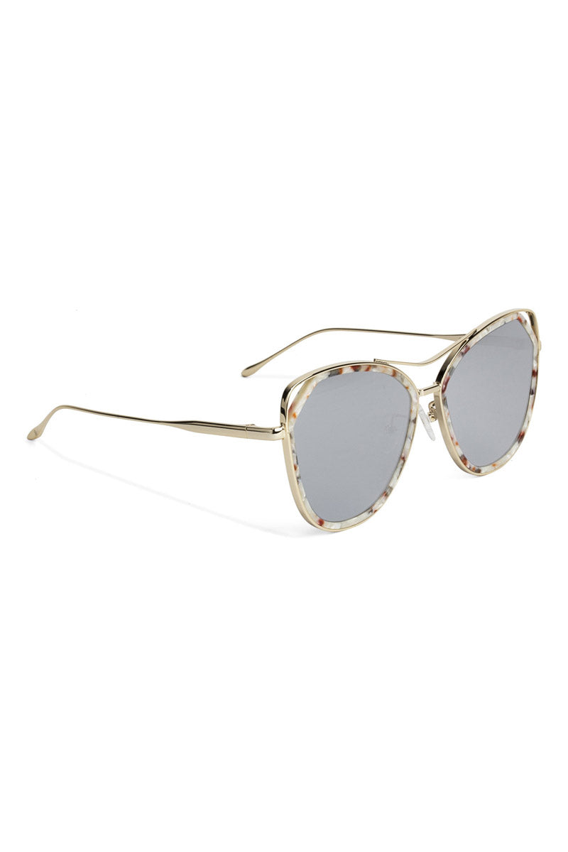 BONNIE CLYDE The Grand Sunglasses - Crescent Koi Sunglasses | Crescent Koi| The Grand Sunglasses - Crescent Koi. Features:  This style goes particularly well with Heart, Square, Oval, and Oblong faces.  Unisexual 100% UV Protection Glare Reduction Scratch-resistant coating Made from Stainless Steel and Acetate