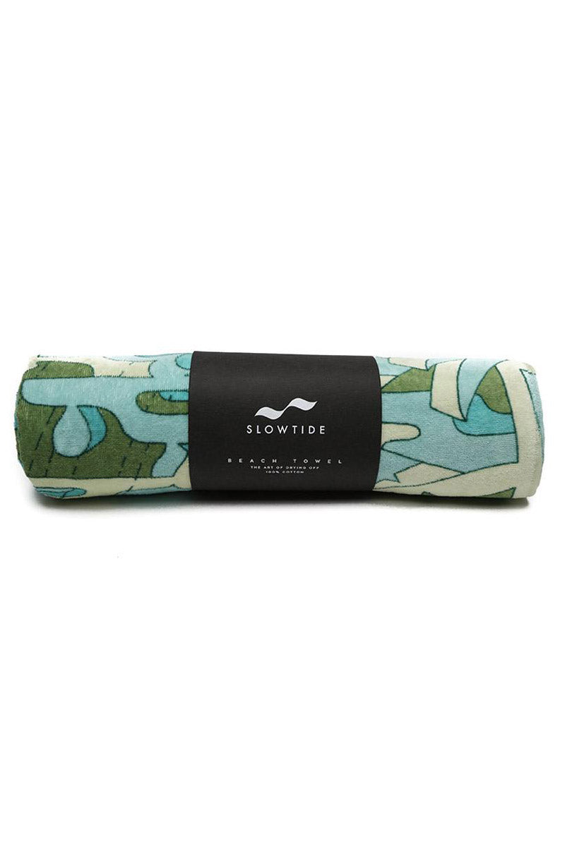 SLOWTIDE Hunter Towel Towel | Hunter| Slowtide Hunter Towel Rolled View