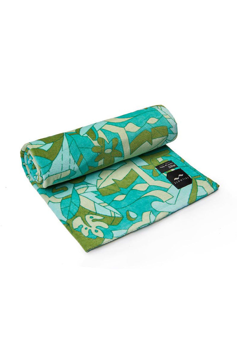 SLOWTIDE Hunter Towel Towel | Hunter| Slowtide Hunter Towel Slightly Rolled Out View