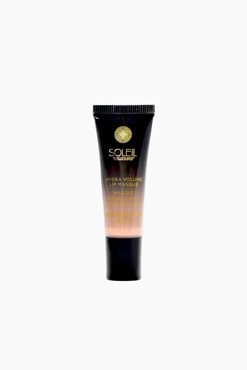 SOLEIL TOUJOURS Hydra Volume Lip Masque SPF 15 - Sip Sip Beauty | Sip Sip | Soleil Toujours Hydra Volume Lip Masque Spf 15 - Sip Sip Tack-free lip masque in a gilded champagne color Front View