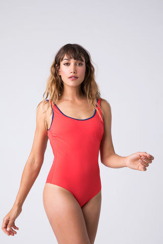 SOLID & STRIPED The Harlow Scoop Neck One Piece Swimsuit - Harlow Red One Piece | The Harlow Scoop Neck One Piece Swimsuit - Harlow Red