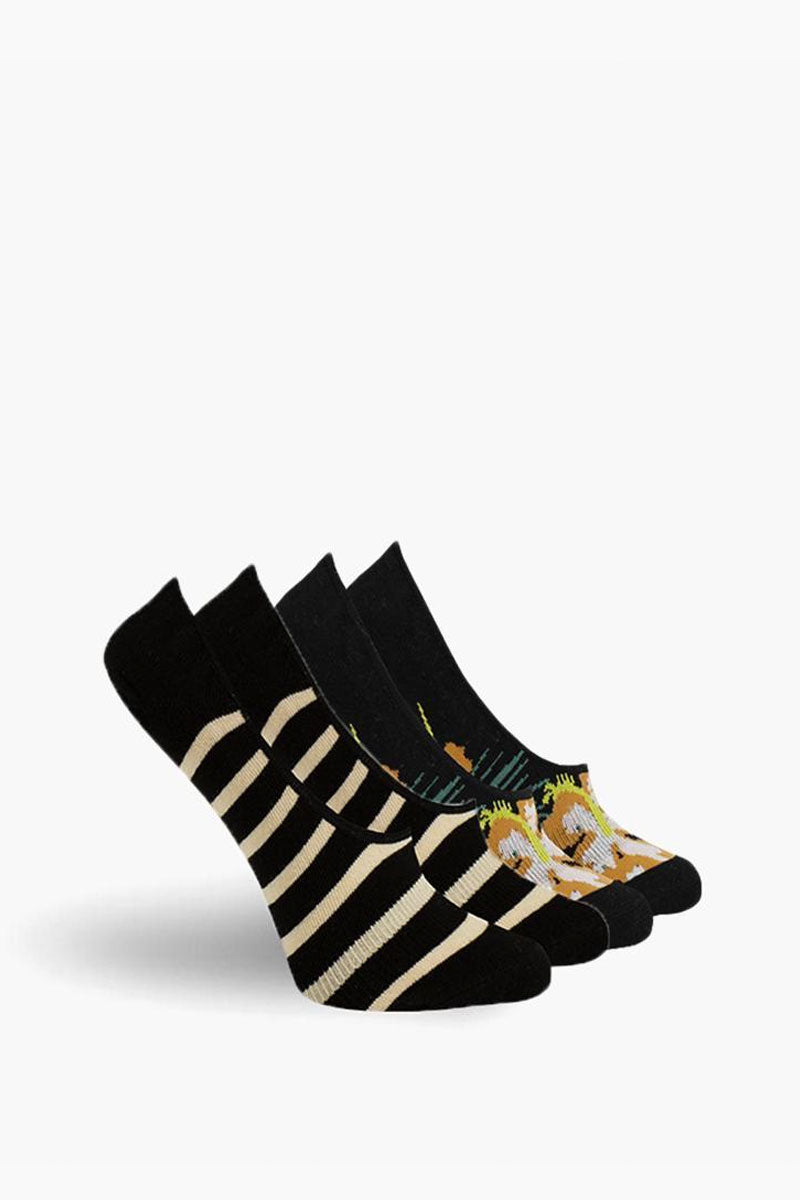 RICHER POORER Havana No Show Socks - Black Accessories | Black| Richer Poorer Havana No Show Socks - Black. FEATURES:  Classic lightweight.  Inner-heel grip. Combed Cotton, Polyester, Nylon, Spandex. Wash warm, tumble dry low. Repeat. Imported. View: Side View.