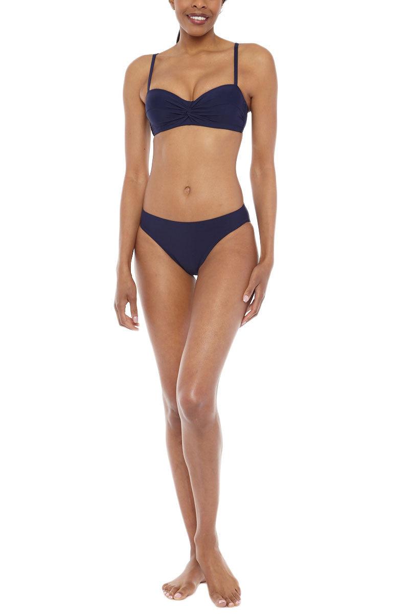 HELEN JON Twist Underwire Top Bikini Top | Navy| Helen  Jon Twist Underwire Bikini Top