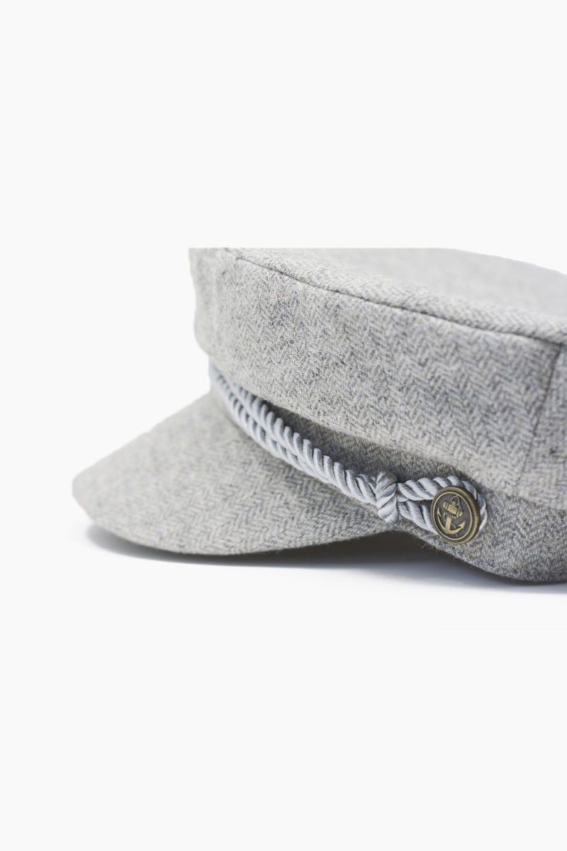 WYETH Herringbone Captain Cap - Grey Hat | Herringbone Captain Cap - Grey
