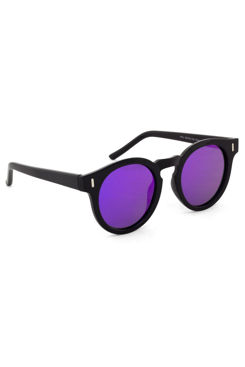 BONNIE CLYDE The Hill Sunglasses - Venom Violet Sunglasses | Venom Violet| Bonnie Clyde The Hill Sunglasses - Venom Violet. Features:  This style goes particularly well with Heart, Square, Oval, And Oblong faces.  Unisexual   100% UV Protection   Glare reduction   Scratch-resistant coating  Made from High-Nickel & Acetate