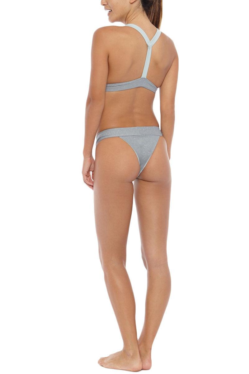 HOUSE OF AU+ORA Fox Lady Classic Triangle T-Back Bikini Top - Grey Bikini Top   Grey  House of Au + Ora Grey Fox Lady Bikini Top