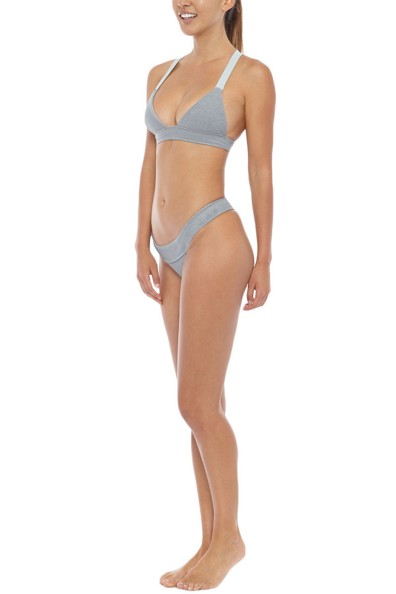 HOUSE OF AU+ORA Fame Thick Waistband Moderate Bikini Bottom - Grey Bikini Bottom | Grey| House of Au + Ora Fame Bikini Bottom