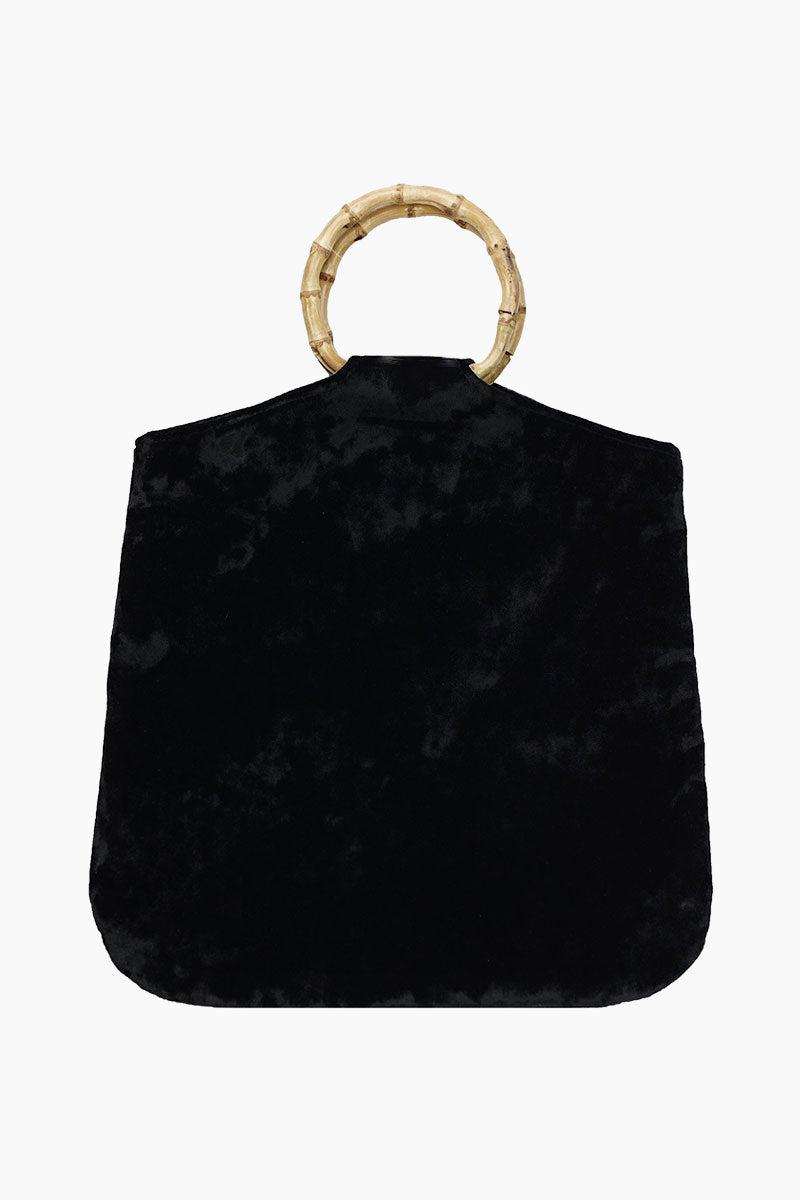 KAYU Hudson Velvet Tote - Black Bag   Black 