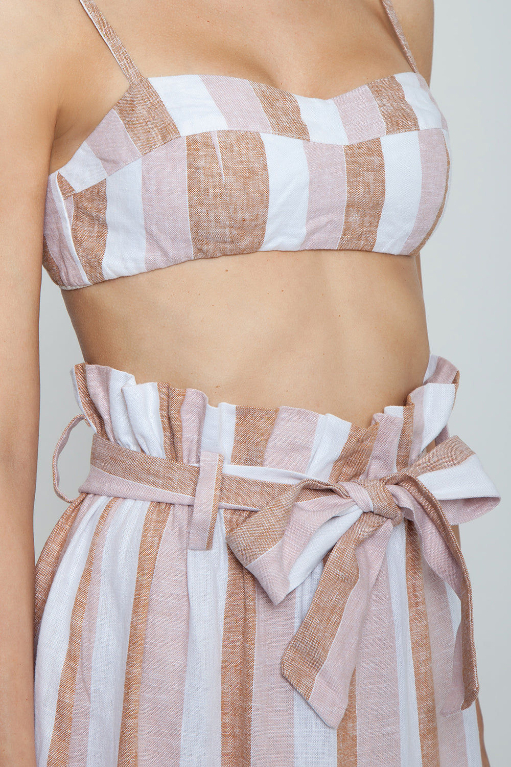 ADRIANA DEGREAS Striped Clochard Shorts - Porto Rose Stripe Print Shorts | Porto Rose Stripe Print| Adriana Degreas Striped Clochard Shorts - Porto Rose Stripe Print. Features:  Adjustable waist tie Relaxed fit Side pockets Main: 100% Cotton Detail View