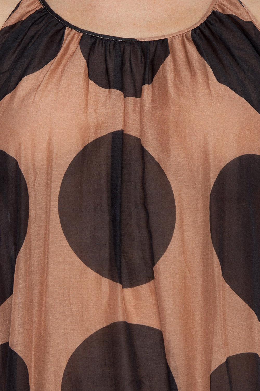 STELLA MCCARTNEY Ballet Spaghetti Strap Cover-Up Maxi Dress - Ballet Dots Print Dress | Ballet Dots Print| Stella McCartney Strap Maxi Dress - Ballet Dots Print Maxi dress  Thin straps Ruffle tier detail Polka dot print  Detail View