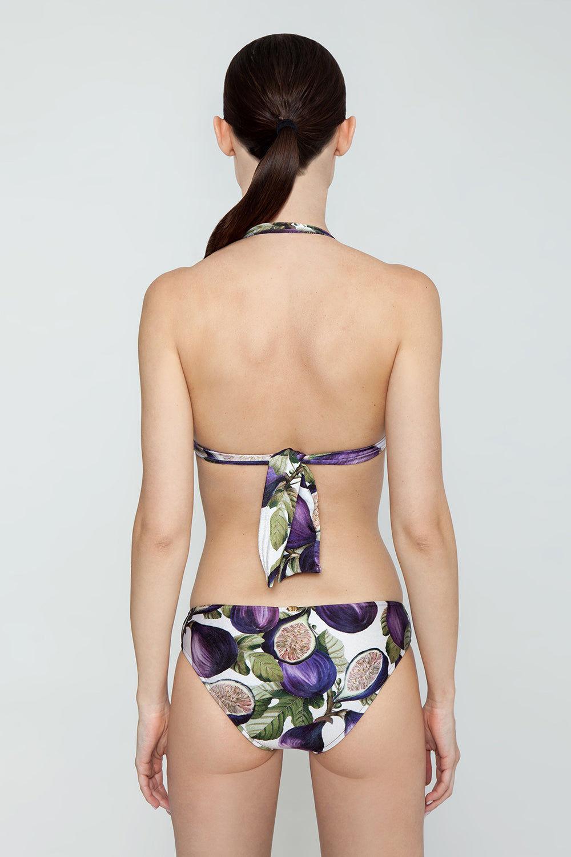ADRIANA DEGREAS Hipster Bikini Bottom - Fig Purple Print Bikini Bottom | Fig Purple Print| Adriana Degreas Hipster Bikini Bottom - Fig Purple Print. Features:  Low-rise bottom Medium coverage Torso-elongating effect Main: 85% polyamide, 15% spandex. Back View