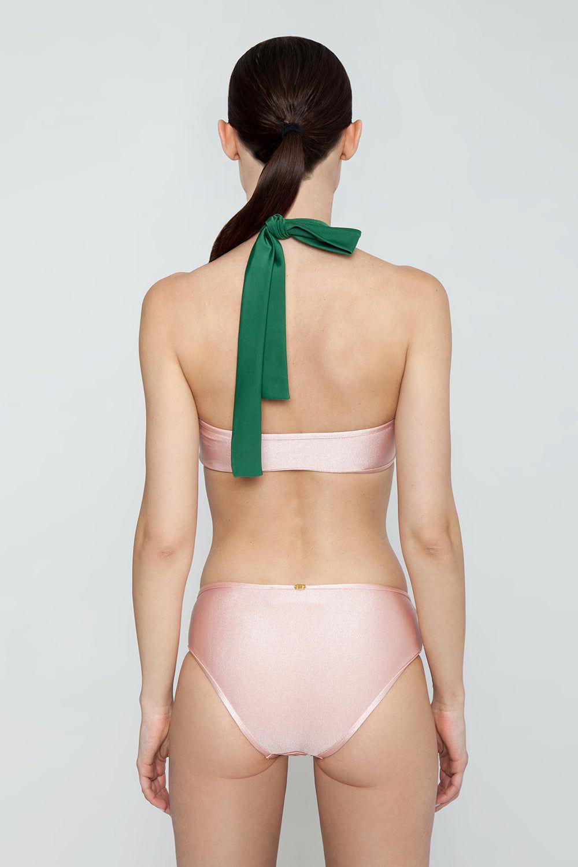 ADRIANA DEGREAS Hipster Bikini Bottom - Light Pink Bikini Bottom | Light Pink| Adriana Degreas Hipster Bikini Bottom - Light Pink Hipster style  Moderate coverage Back View