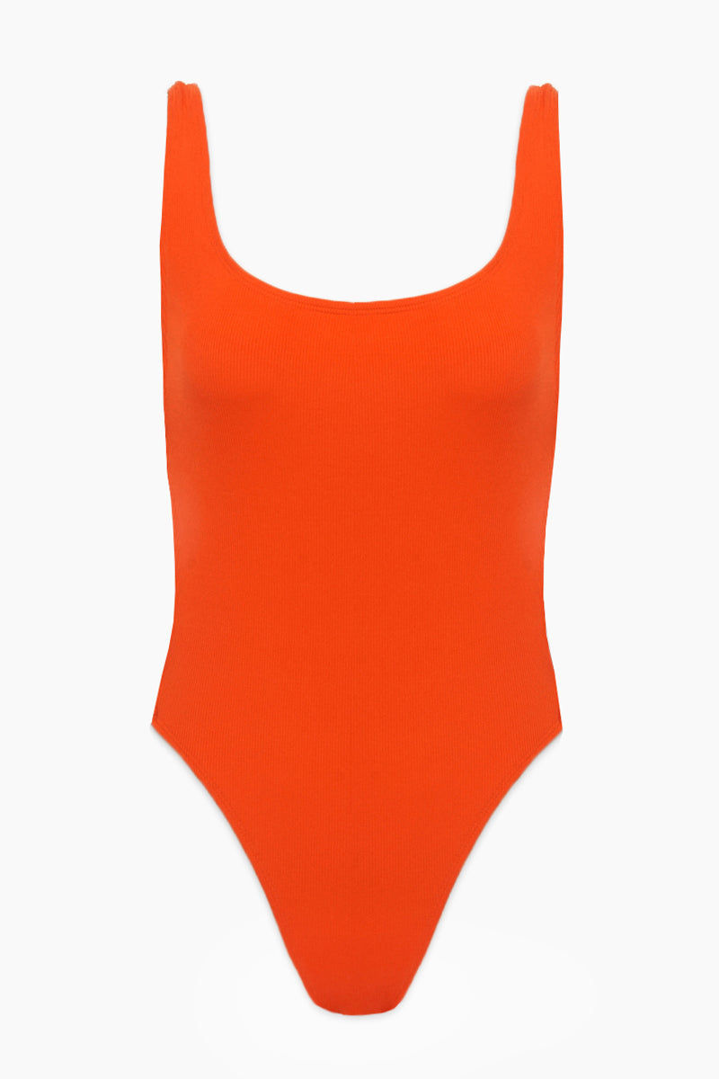 L SPACE Mayra Side Cut Out One Piece Swimsuit - Poppy One Piece | Poppy |L Space Mayra Side Cut Out One Piece Swimsuit - Poppy Features:  Plunging low back Scoop front Open sides with gold hardware detail Ribbed texture fabric Classic coverage Cut out side with buckles  Stretch fit Flatlay View