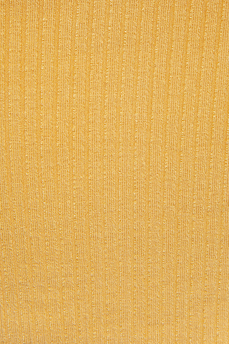 AMUSE SOCIETY Baila Knit Crop Top - Sunray Yellow Top | Sunray Yellow| Amuse Society Bailia Knit Crop Top - Sunray Yellow Crop top in sunray yellow  Thin spaghetti straps  Detail View