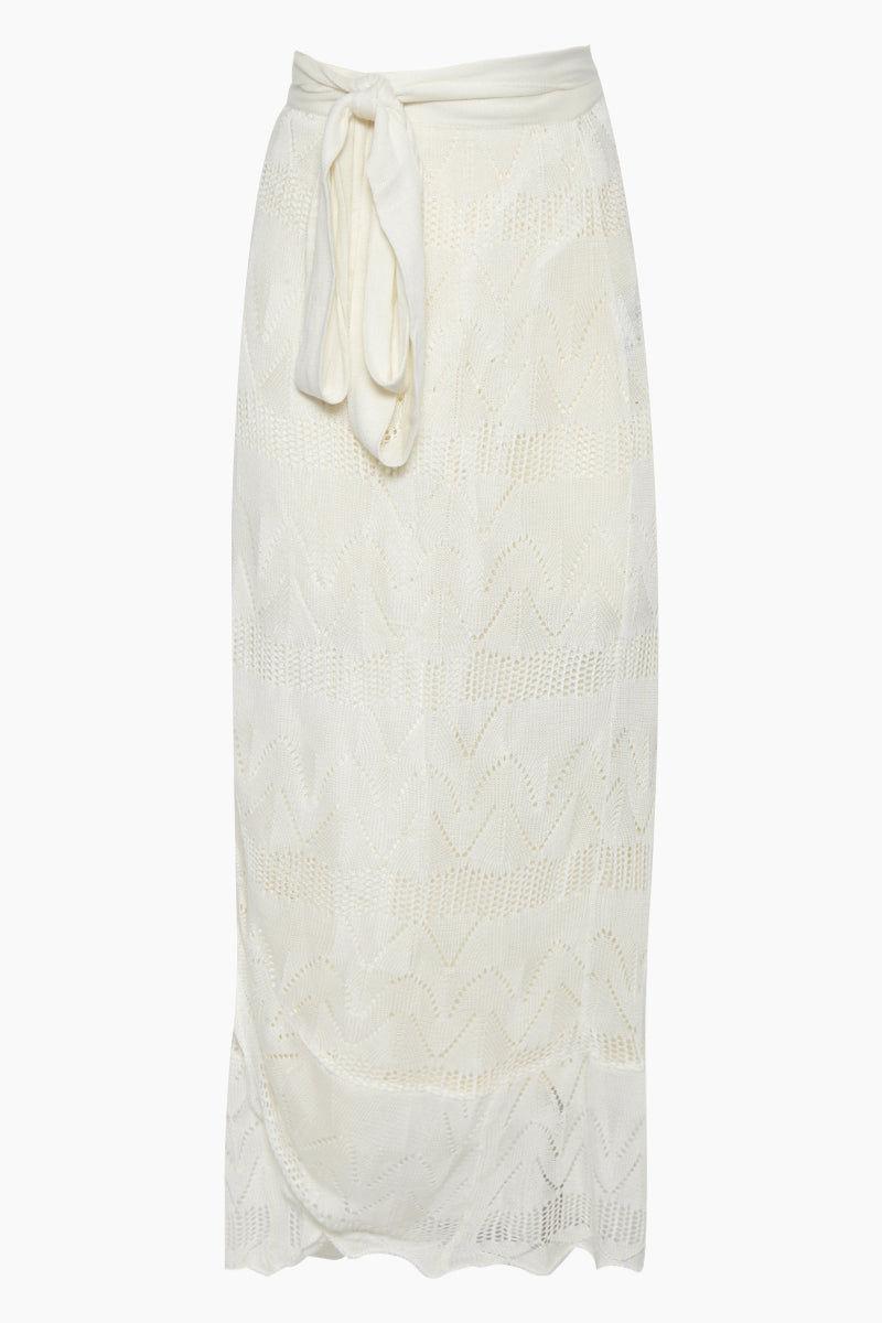 8a439d99587c9 MEERK Creta High Waist Maxi Skirt - Off White | BIKINI.COM