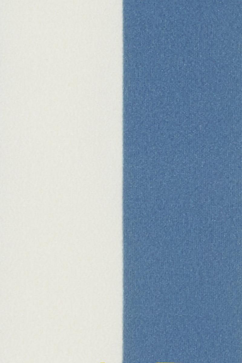 SOLID & STRIPED The Rachel Low Rise Bikini Bottom - Ice Blue & Cream White Stripe Print Bikini Bottom | Ice Blue & Cream White Stripe Print| Solid & Striped The Rachel Low Rise Bikini Bottom - Ice Blue & Cream White Stripe Print  Low-rise stretch bikini bottom in powder blue and white vertical stripe print. Moderately cheeky Front View