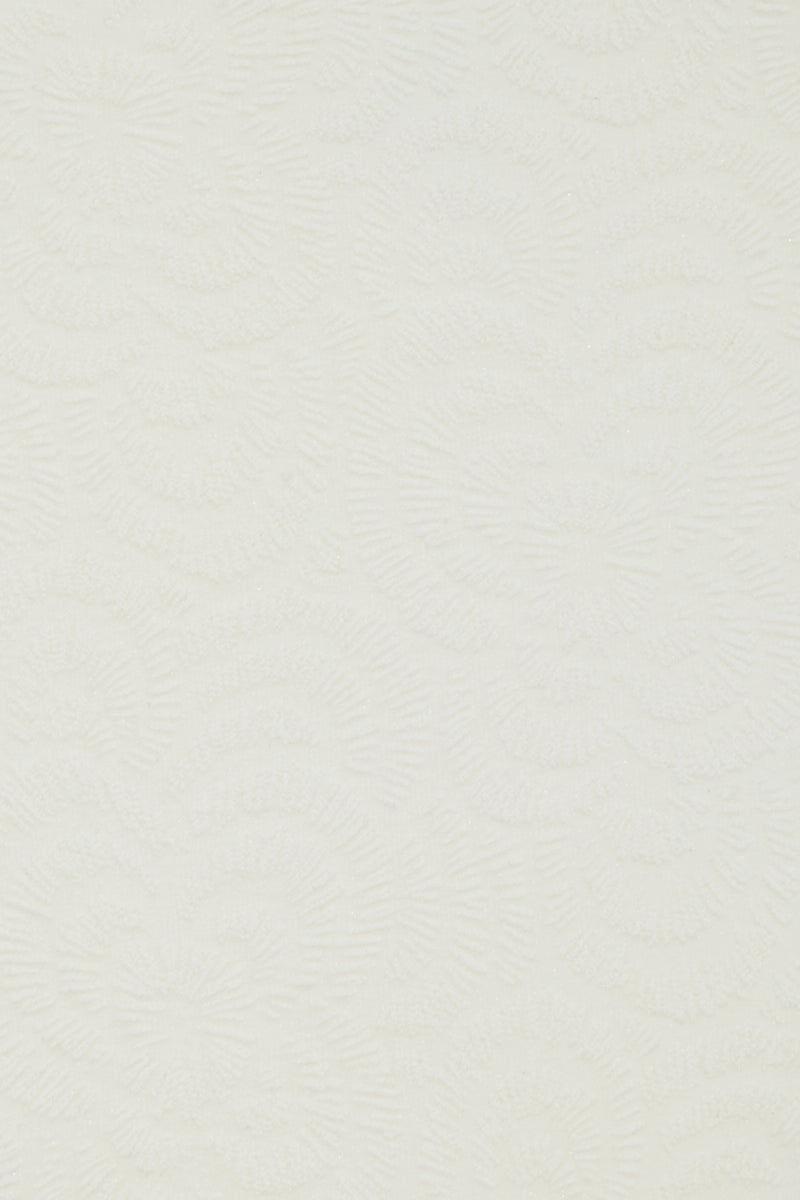 AMAIO SWIM Jolie High Waisted Bikini Bottom - Ivory Bikini Bottom | Ivory| Amaio Swim Jolie High Waisted Bikini Bottom - Ivory.  Features:  High waist bikini bottom  High cut leg  Moderate coverage  Luxe jacquard fabric Front View