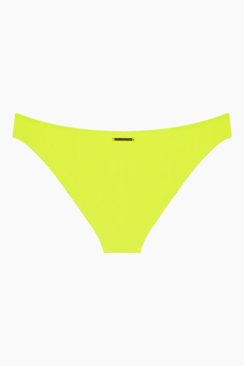 STELLA MCCARTNEY Classic Hipster Bikini Bottom - Fluo Yellow Bikini Bottom | Fluo Yellow| Stella McCartney Classic Hipster Bikini Bottom - Fluo Yellow Low rise Hipster Cheeky-moderate coverage Back View