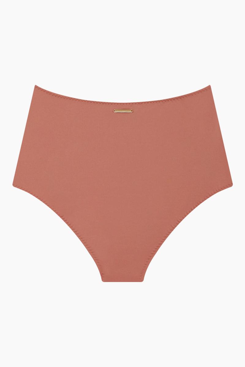 STELLA MCCARTNEY Timeless High Waist Bikini Bottom - Antique Rose Pink Bikini Bottom | Antique Rose Pink| Stella McCartney High Waist Bikini Bottom - Antique Rose Pink High waist  Panel seams Moderate coverage Back View