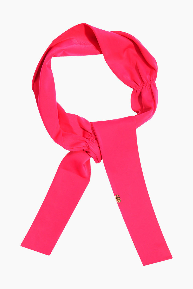 ADRIANA DEGREAS Solid Sash - Hot Pink Hair Accessories | Hot Pink| Adriana Degreas Solid Sash - Hot Pink. Features:  Made of stretch fabric Adjustable to your own creative mood Self-tie headband Main: 85% polyamide, 15% spandex. Front View