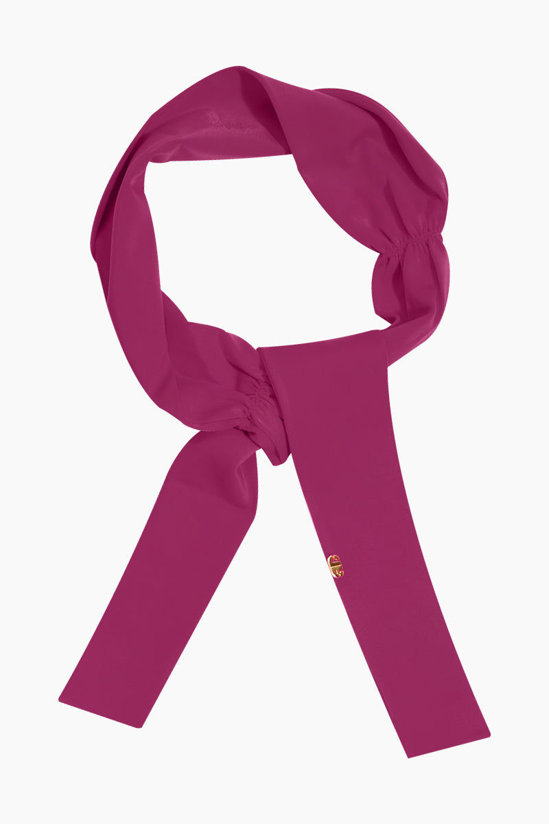 ADRIANA DEGREAS Solid Sash - Pomegranate Pink Hair Accessories | Pomegranate Pink| Adriana Degreas Solid Sash - Pomegranate Pink. Features:  Made of stretch fabric Adjustable to your own creative mood Self-tie headband Main: 85% polyamide, 15% spandex Front View
