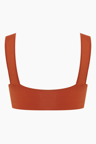fbf69954a6 ... CLUBE BOSSA Sober Weaving Bralette Bikini Top - Ginger Orange Bikini Top  | Ginger Orange| ...