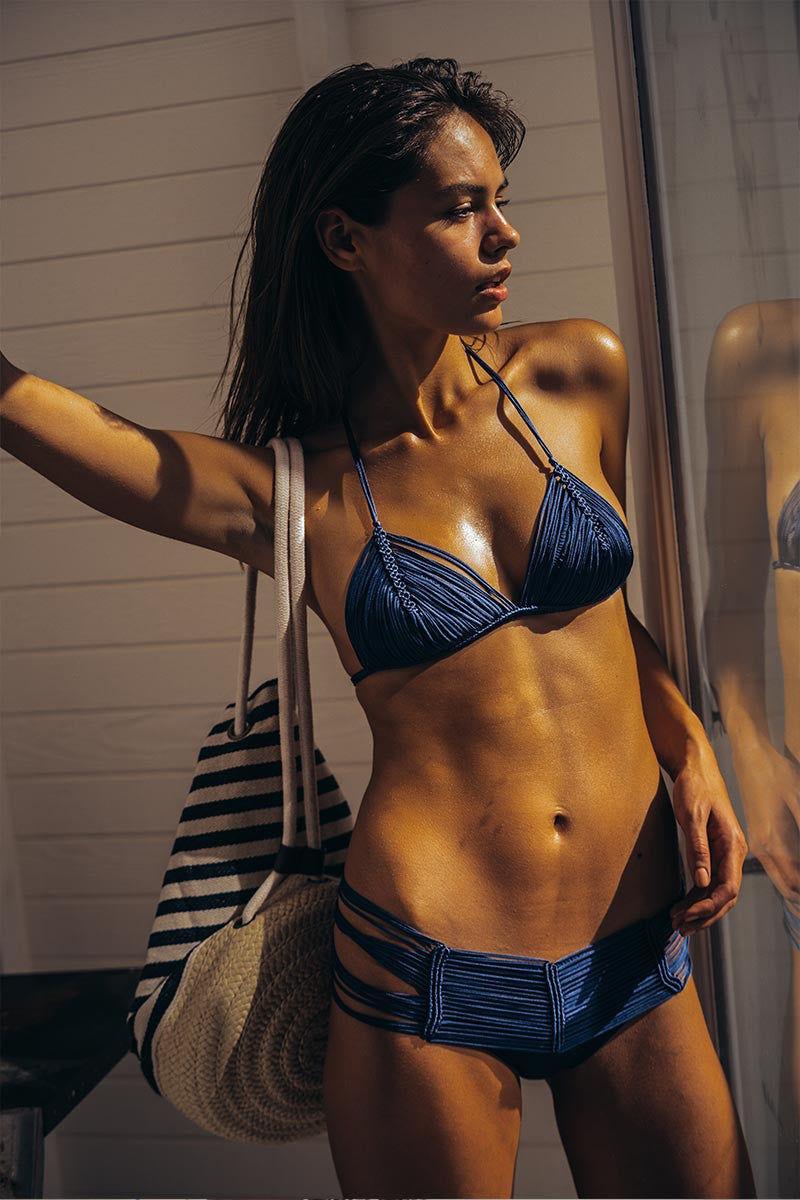 INDAH Andrea Macrame Top - Sapphire Bikini Top | Sapphire| Indah Andrea Macrame Bikini Top