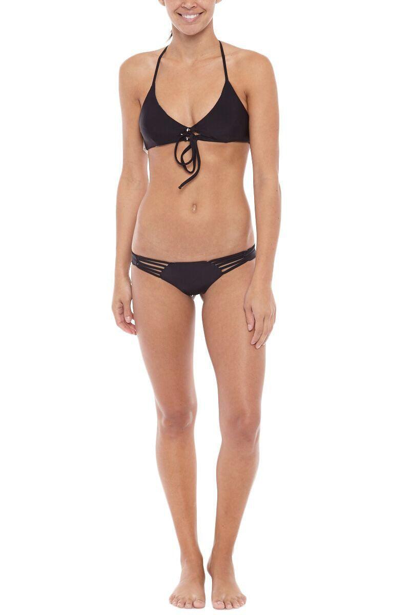 KHONGBOON Indre Reversible Bottom Bikini Bottom | Black and White/Black| Khongboon Indre Reversible Bottom