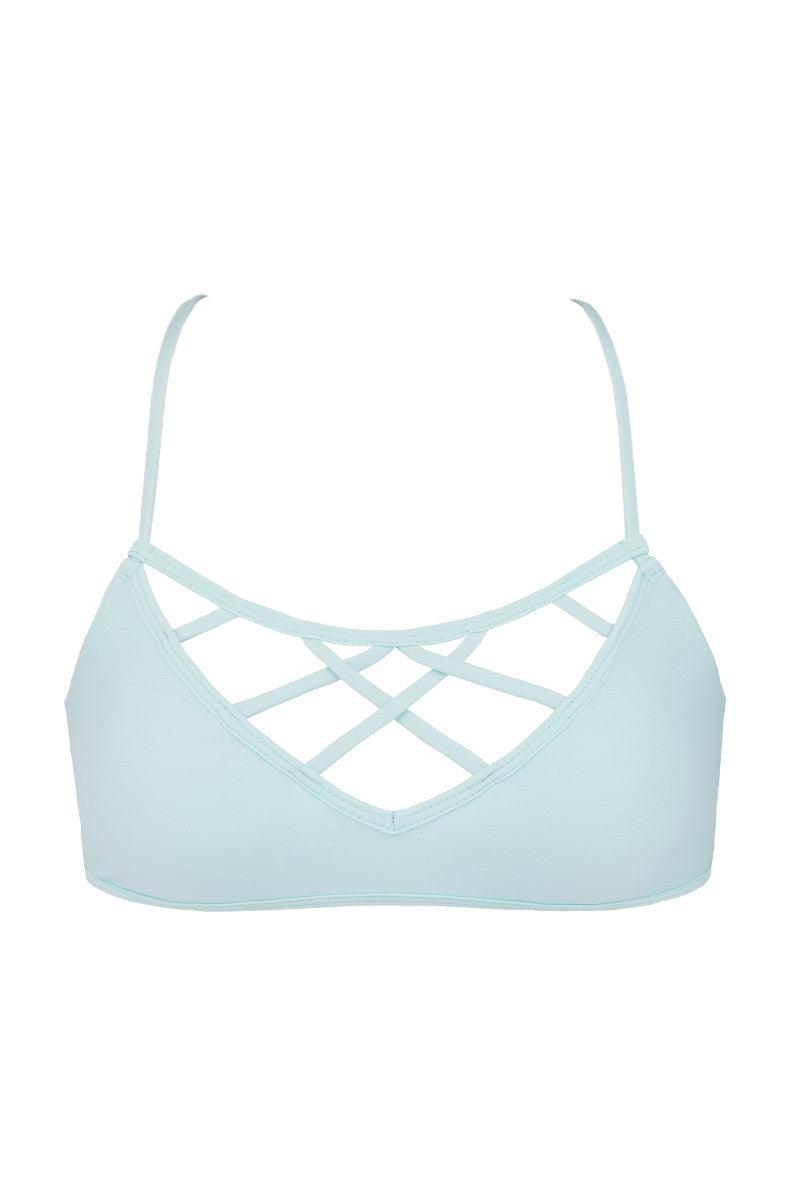 ISSA DE' MAR Hina Caged Bikini Top - Mint Bikini Top | Mint|Issa De' Mar Hina Bikini Top