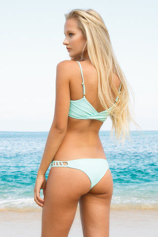 ISSA DE' MAR Hina Cut-Out Cheeky Bikini Bottom - Mint Bikini Bottom | Mint|Issa De' Mar Hina Bikini Bottom| Lili