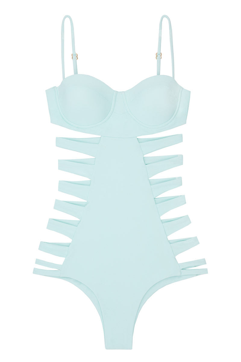 ISSA DE' MAR San Sebastian Cut Out One Piece Swimsuit - Mint One Piece | Mint| Issa De' Mar San Sebastian One Piece
