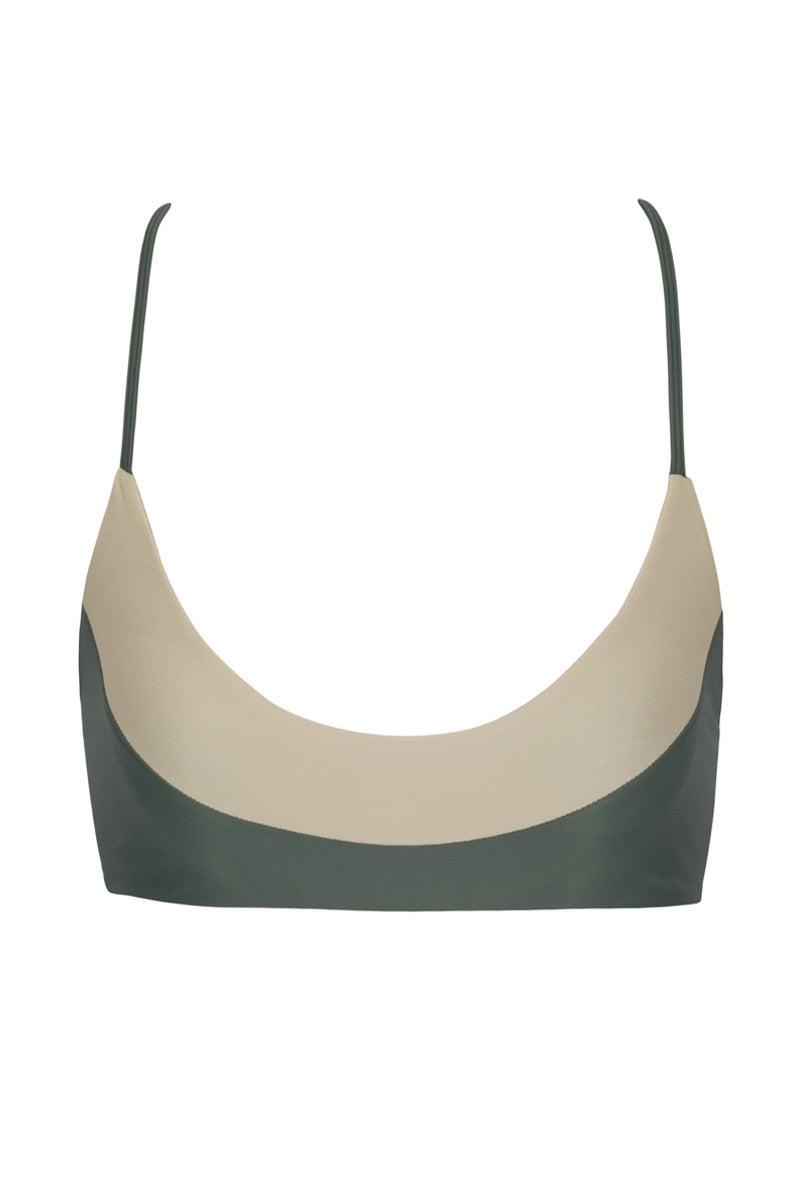 ISSA DE' MAR Bondi Bralette Color Blocked Bikini Top - Mauka/Tan Bikini Top | Mauka/Tan| Issa De Mar Bondi Bikini top