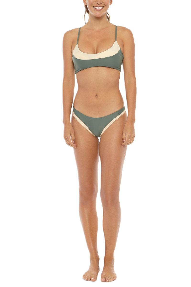 ISSA DE' MAR Coco Skimpy Bikini Bottom - Mauka/Tan Bikini Bottom | Mauka/Tan| Issa De Mar Coco Bikini Bottom
