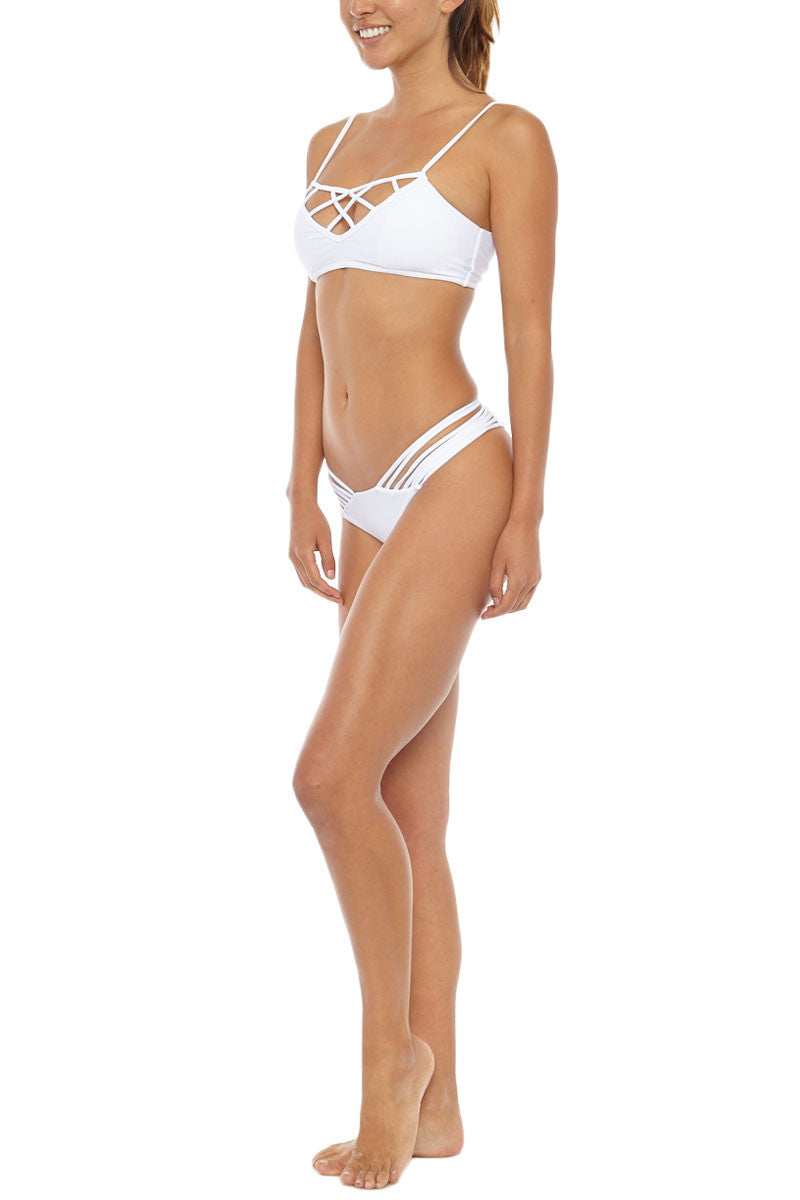 ISSA DE' MAR Hina Caged Bikini Top - White Bikini Top   White  Issa De Mar Hina Caged Bikini Top - White