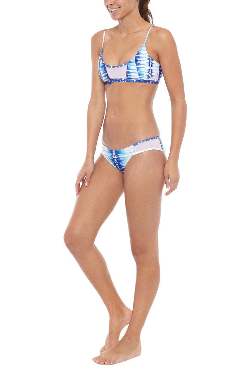 ISSA DE' MAR Kaili Reversible Mesh Bikini Bottom- Ocean Blue/Grey Bikini Bottom | Ocean Blue/Grey| Issa De' Mar Kaili Mesh Bikini Bottom