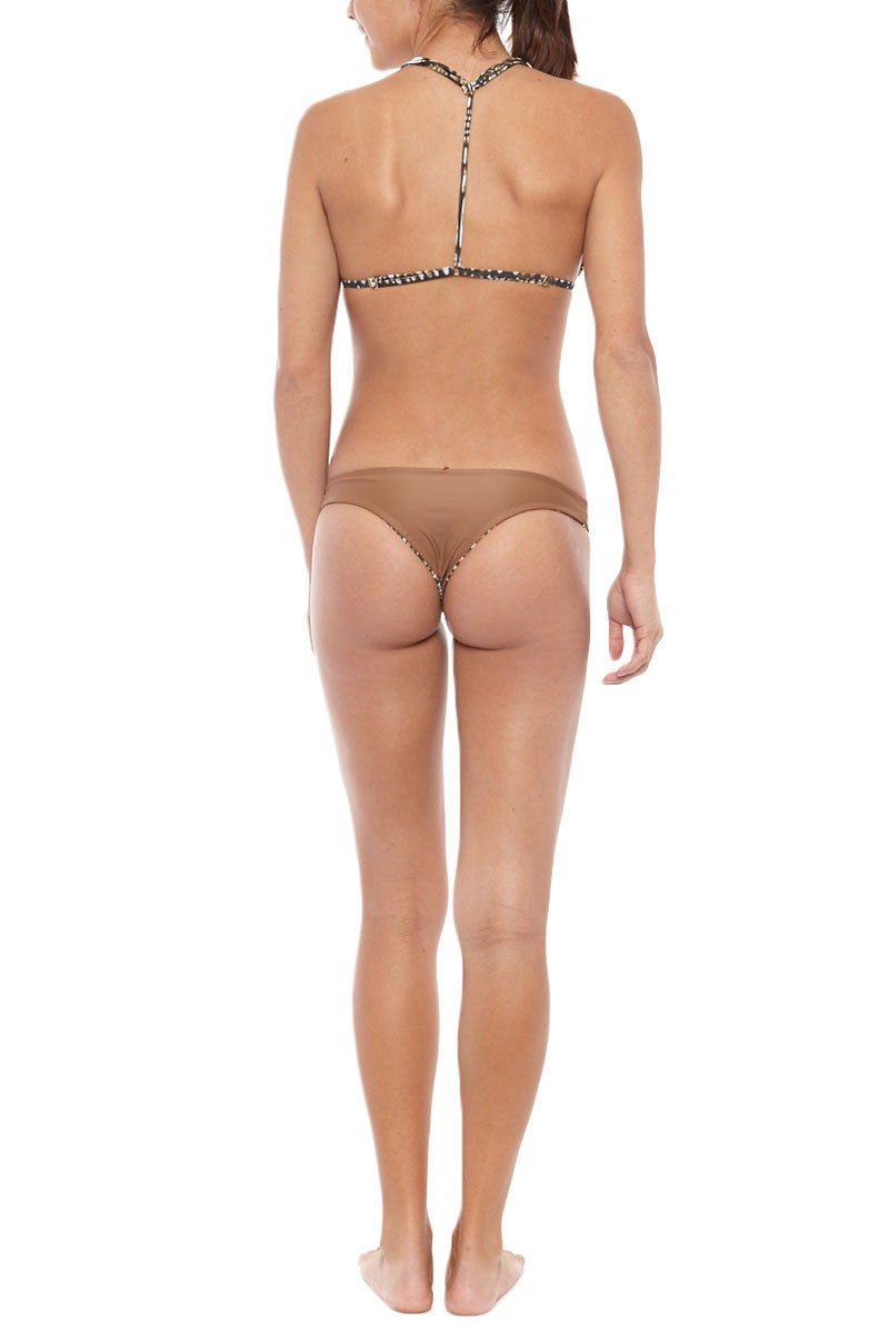 ISSA DE' MAR Poema Reversible Cheeky Bikini Bottom - Pebble/Tan Bikini Bottom | Pebble/Tan| Issa De' Mar Poema Bikini Bottom