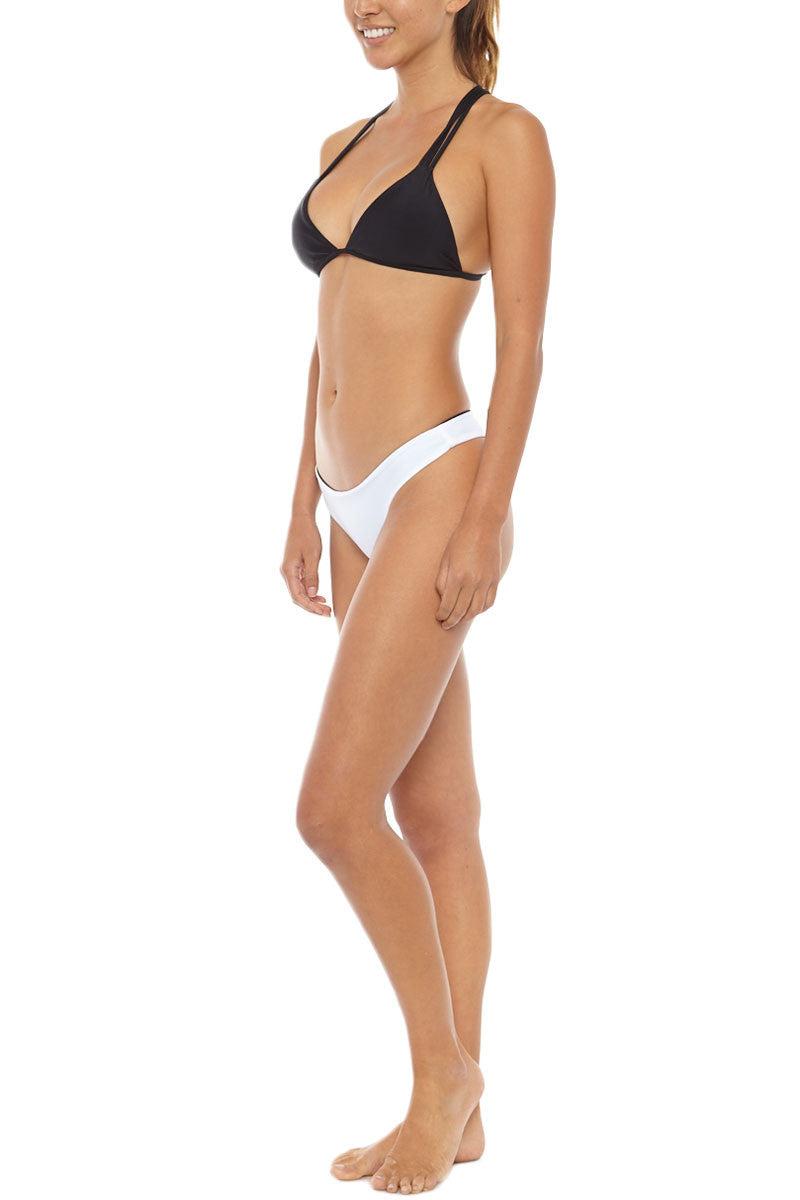 ISSA DE' MAR Poema Reversible Cheeky Bikini Bottom - Black/White Bikini Bottom | Black/White| Issa De' Mar Poema Bikini Bottom