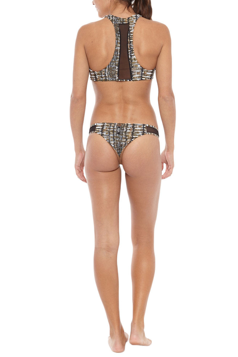 ISSA DE' MAR Sola Mesh Brazilian Bikini Bottom - Pebble Bikini Bottom   Pebble  Issa De' Mar Sola Mesh Bikini Bottom