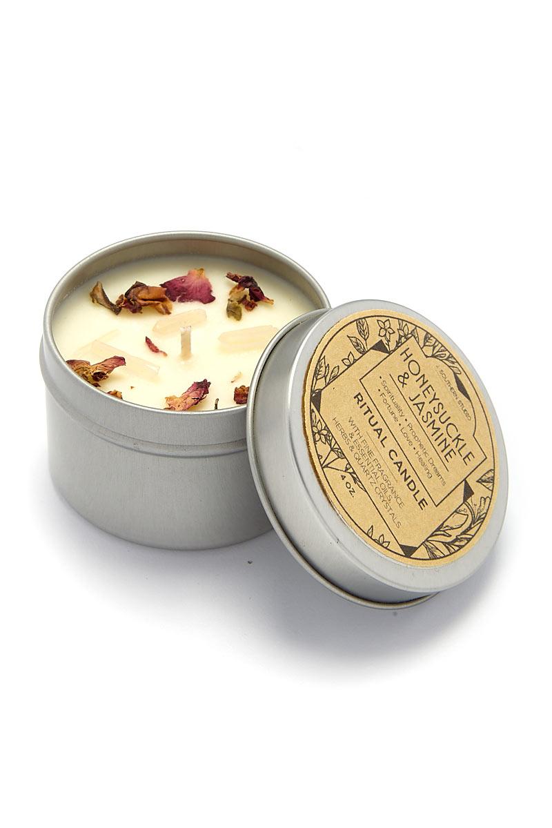 J. SOUTHERN STUDIO Tin Honeysuckle & Jasmine Ritual Candles Home | Tin Honeysuckle & Jasmine Ritual Candles