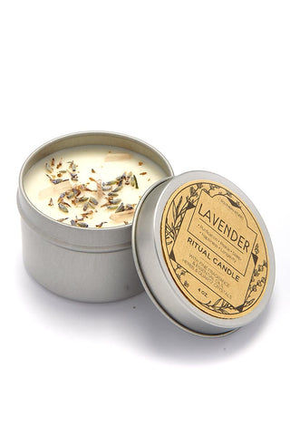 J. SOUTHERN STUDIO Tin Lavender Ritual Candles Home | Tin Lavender Ritual Candles