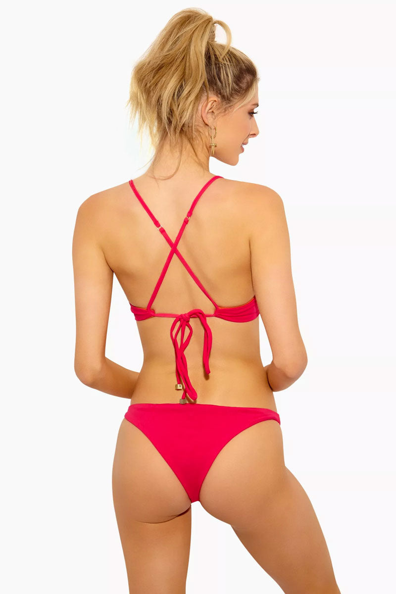 FELLA Jasper Low Cut Cheeky Bikini Bottom - Fresia Bikini Bottom | Fresia|Jasper Bottom - Features:  Low Cut Bottom Thin Side Straps  Cheeky Coverage