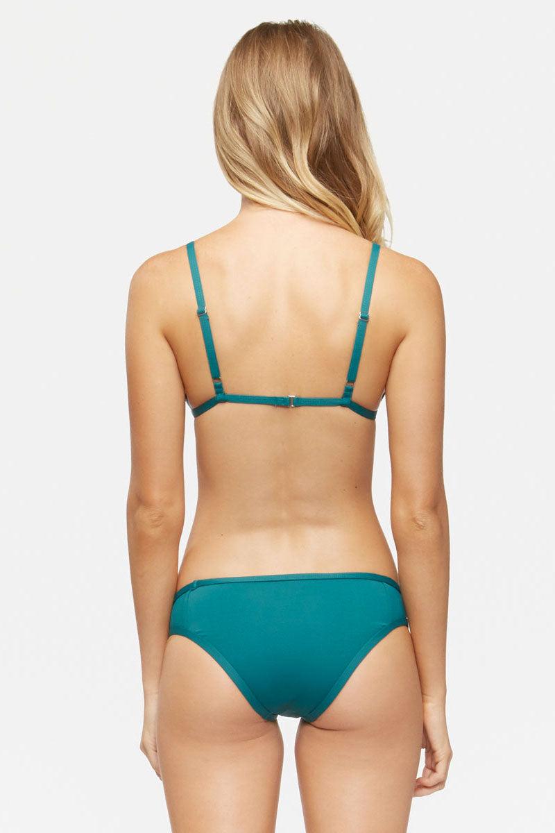 TAVIK Jayden Bikini Bottom - Storm Green Bikini Bottom | Storm Green|Jayden Bikini Bottom - Features:  Moderate to Full coverage Stretch fit Classic bikini fit Low rise