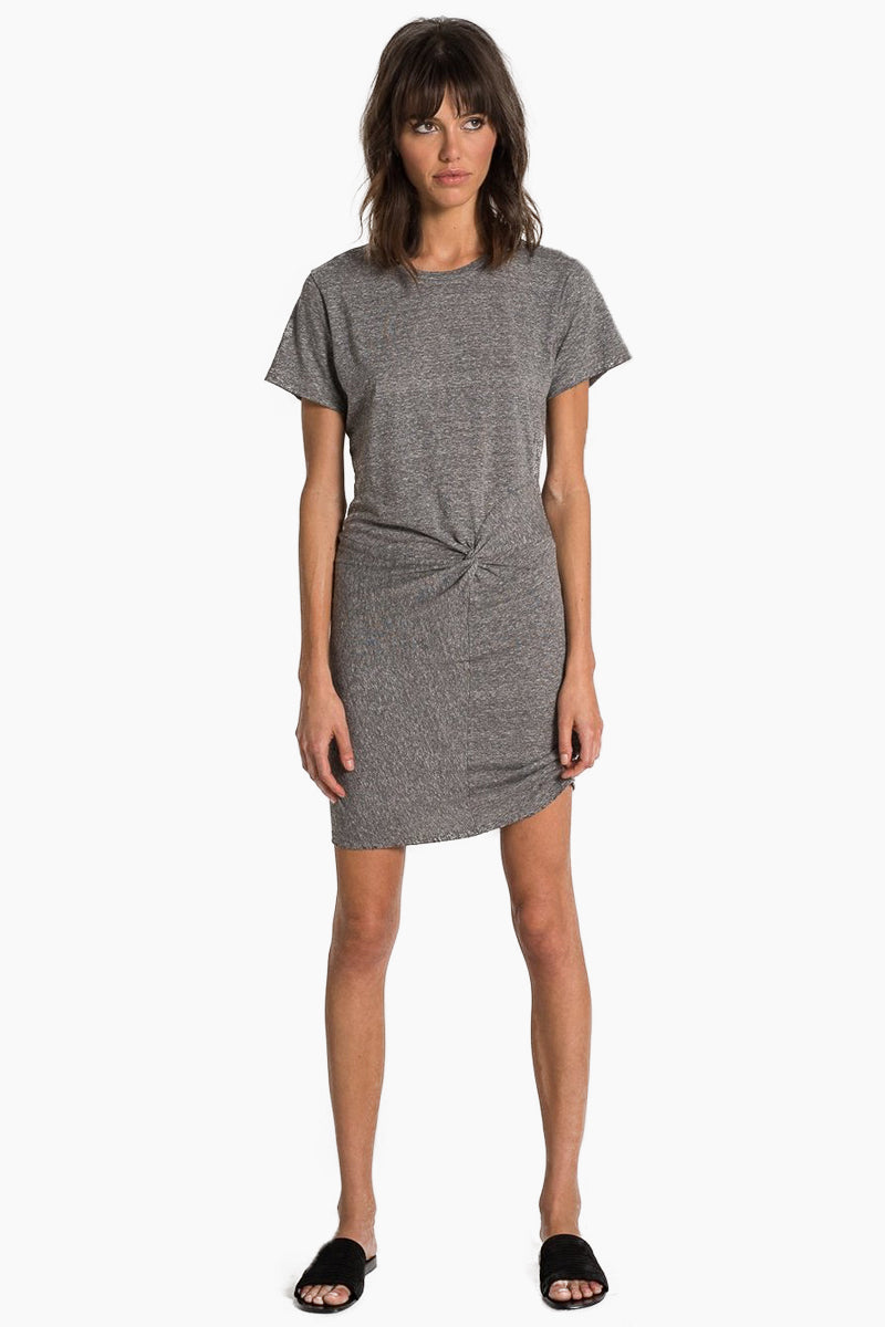 N:PHILANTHROPY Jazz Twisted Dress - Heather Grey Dress   Heather Grey  n:Philanthropy Jazz Twisted Dress - Heather Grey Mini dress Crew neckline  Short sleeves Twist front detail   Front View