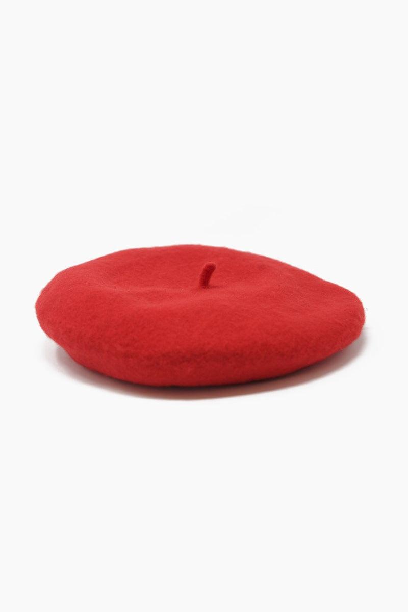 WYETH Jean Beret Hat - Red Hat | Jean Beret Hat - Red