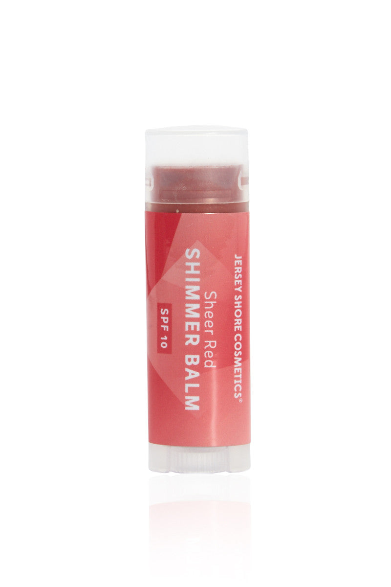JERSEY SHORE COSMETICS SPF 10 Shimmer Lip Balm - Red Beauty | Red| Jersey Shore Cosmetics SPF 10 Shimmer Lip Balm